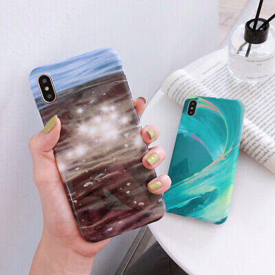 New Pastel Marble Pattern IMD Soft Case Cover For iPhone XS Max XR X 8 7 6S Plus