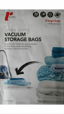 H & L Russel Large Vacuum Storage Bags Set of 2 Shelving Solution Home New