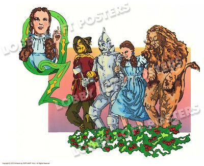 THE WIZARD OF OZ ART PRINT POSTER by CORTLANDT HULL 1939 CHARACTERS 12 x 16 NEW