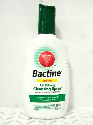 Bactine No Sting Pain Relieving CLEANSING SPRAY Prevents Infection 5 oz BXN(005)