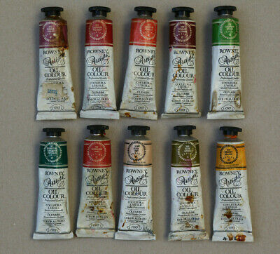 Daler Rowney Artists Oil Colour artists paint 10 x 38ml tubes-series F,E,C and A