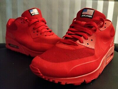 official photos f1bab 0cdf4 Nike Air Max 90 Hyperfuse - Independence Day Red Mens Size 10 Uk Used