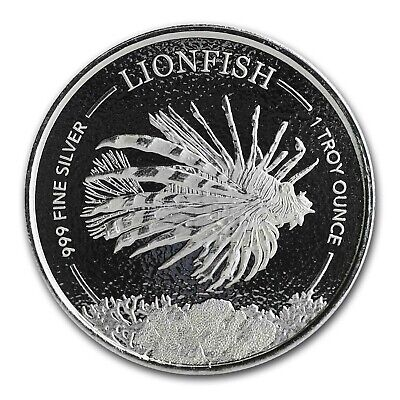 2019 Barbados 1 oz Silver Lionfish BU - SKU#189169