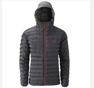 15d138793d RAB MENS SIZE xlarge Summit Down Jacket Red black puffa hood coat ...