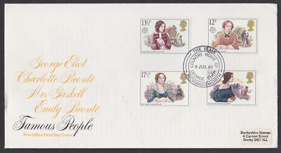 Great Britain 1980 FDC Post Office Cover Famous Women George Eliot Rickmansworth