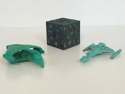 STAR TREK THE NEXT GENERATION Micro Machines - LOT of 3, BORG, ROMULAN, KLINGON