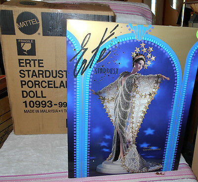 1994 Barbie 1st Erte Design Stardust Porcelain Doll w/Box Shipper Box LTD ED   2
