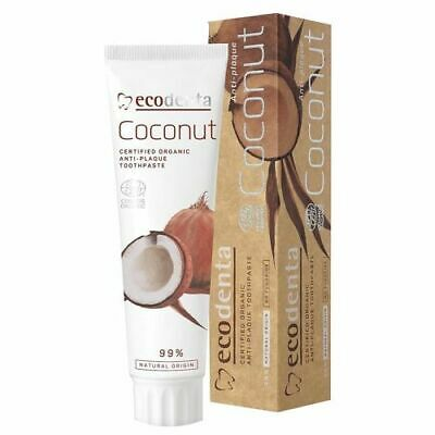 ECODENTA COSMOS Organic Anti-Plaque Toothpaste with Coconut Oil and Zinc Salt