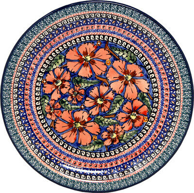 "Polish Pottery Dinner Plate 11"" from Zaklady Boleslawiec Polish 1014-150ar"