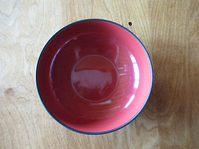 "Home WORLD VIEW RED Soup Cereal Bowl 7 1/8"" Coupe Black  1 ea  7 available"