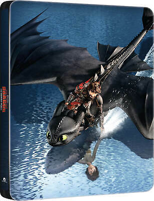 How to Train your Dragon Hidden World Steelbook 3D / Blu-ray W/ Protective Cover