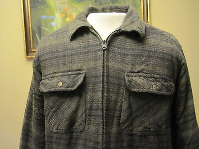Vintage Field N Forest Hunting Outdoors Jacket Lined Full Zip Size Medium