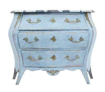 Early 20Th Century Swedish Painted Bombe Shaped Commode
