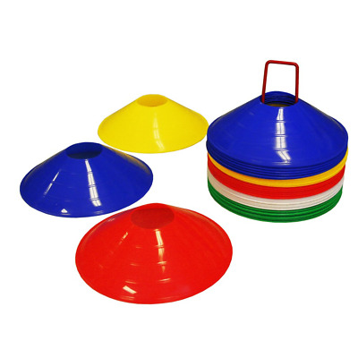 """Amber Athletics Gear Disc Cones 2"""" with Cone Stand for Agility Training, Soccer,"""