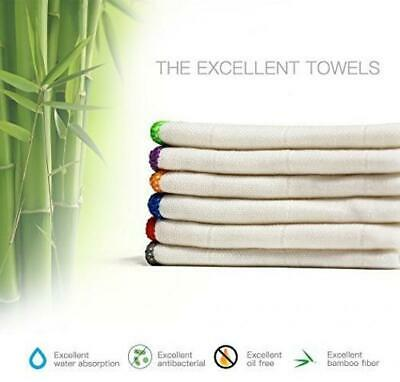 100% Bamboo Kitchen Dish Cloths (6 Pack) White Washcloths Towels, Cleaning &...