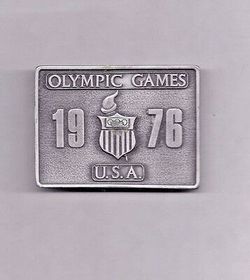 Olympics - Vintage 1976 Olympic Games Belt Buckle - Bergamot Brass Works