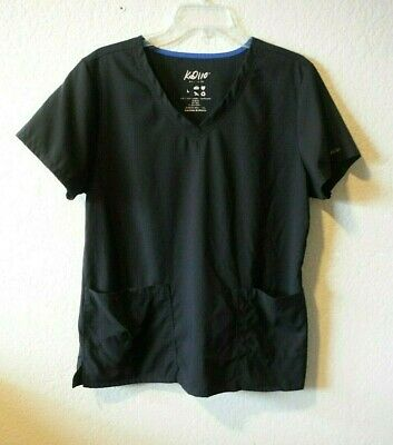 17b97852226 New Women's Black Kd110 V-Neck Scrub Top By Barco Uniforms Size Large