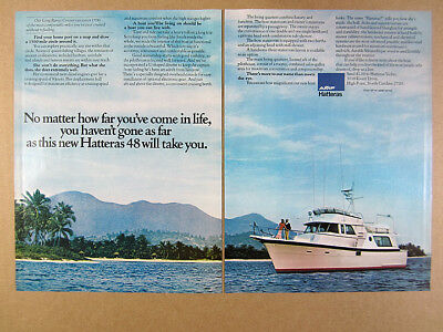 1972 HATTERAS 53 Motor Yacht Boat photos vintage print Ad