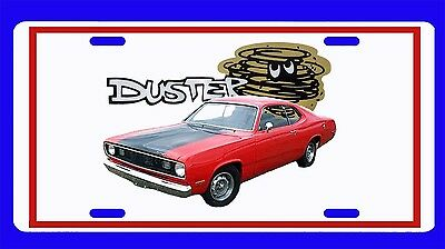 NEW Plymouth Duster License Plate!! FREE SHIPPING!!