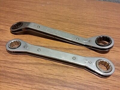 2 Vintage Ratchet Wrenches Blue Point RAY2428 Bonney RB-2022