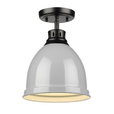 Beaumont Lane Flush Mount in Black with a Gray Shade
