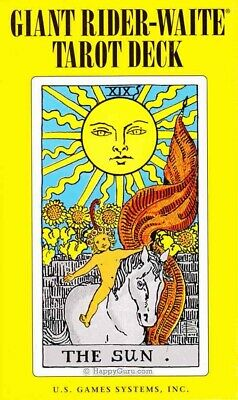 """The """"Giant"""" Rider-Waite Tarot Cards (78 Deck With Booklet) (Tarot Cards)"""