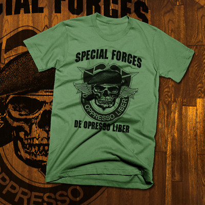 c039f5e0 Army Special Forces Ranger T-Shirt Airborne Paratrooper Combat Veteran  Military