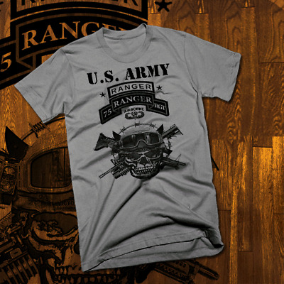 956c1d16 Army Special Forces Ranger T-Shirt Airborne Combat Veteran Military skull  new