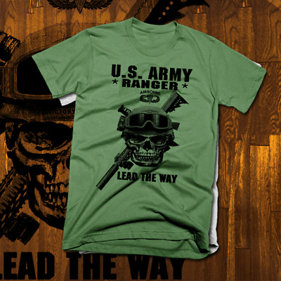 386d5f15 Army Special Forces Ranger T-Shirt Airborne Combat Veteran Military Lead  the Way