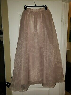 61d7d3aea Lc Conrad Runway rose color Tulle Maxi Skirt lined sz-4 NWOT