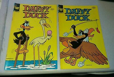 Daffy duck 143 & 144 set movie run whitman prepack bronze age cartoon comics lot