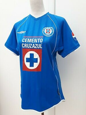 9078a8bc23f Vintage Deportivo Cruz Azul Umbro Mens Size M Blue Home Shirt 2002 Mexico  League