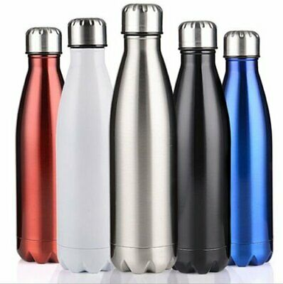 1L Stainless Steel Vacuum Insulated Bottle Water Drinks Flask Thermoses Cycling