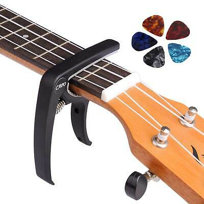 Acoustic Classical Guitars Banjo SILV Guitar Capo Trigger Clamps w/ 5 picks Set