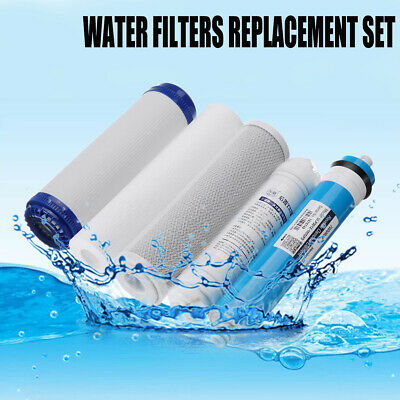 5 Stage 75/100/125GPD Reverse Osmosis RO Water Filter Replacement Kit Membrane 5