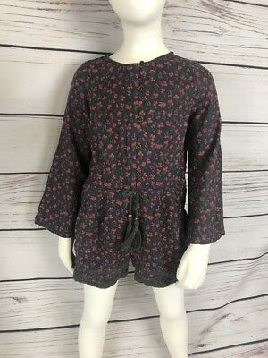 Kids Spring Summer Girls Floral Button Playsuit Age 4 Next | Boho Chic a25