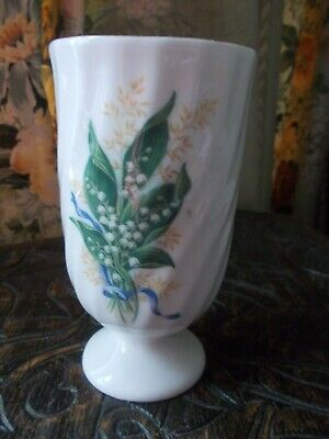 """VINTAGE """"ROYAL VALE"""" MADE IN ENGLAND LILY-OF-THE-VALLEY SMALL VASE 12.5cm high"""