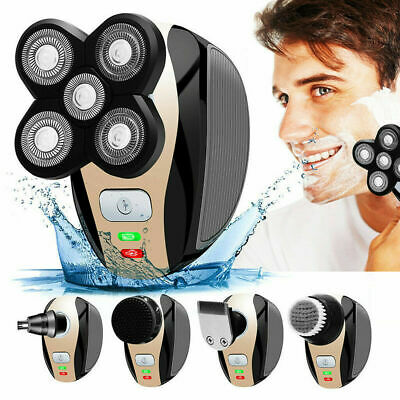 5In1 Men's 4D Rotary Electric Shaver Multifunction Beard Trimmer Rechargeable AU