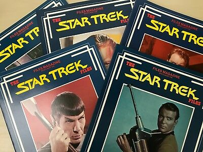 5 x The Star Trek Files by John Peel, incl Time Passages, Mission Year Two, etc