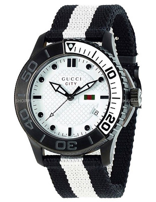 8439930d741 Gucci Timeless White Diamond Pattern Dial Men s or Women s 44mm Watch -  YA126243