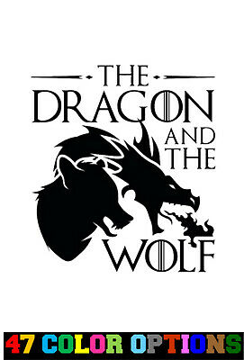 Vinyl Decal Truck Car Sticker Laptop - Game Of Thrones The Dragon And The Wolf