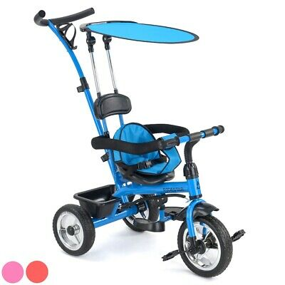 Baby Kids Trike Buggy 4 in 1 Tricycle Push Along 3 Wheel Stroller Pedal Bike