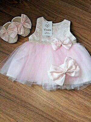 Baby Girls Gorgeous Visara Diamante Dress, Shoes, Headband Outfit £26.99