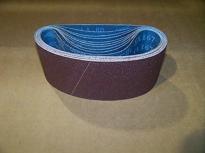 "Premium  A/O,  X-Weight  Sanding  Belts  3"" X 18"",  10 - Pack,  220-Grit"