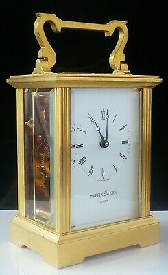 Mappin & Webb Brass Carriage Clock, Working with Key