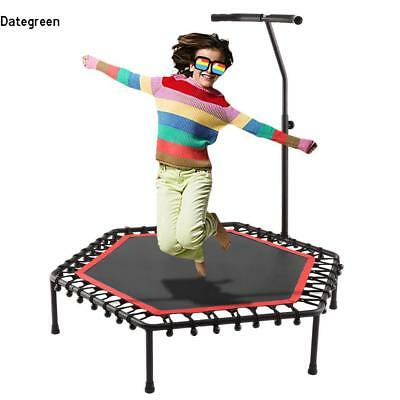 """50"""" Fitness Trampoline Bungee-Rope-System Adjustable Handlebar Exercise 220lbs"""