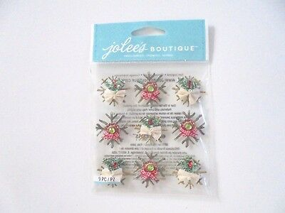 Jolees Boutique Christmas Chipboard Snowflakes Scrap Booking Stickers