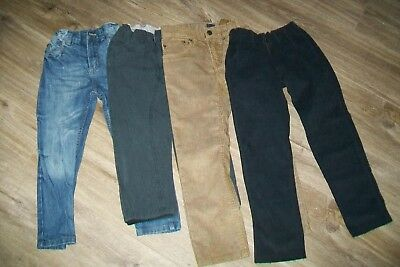 Lot of 4 pairs boys trousers.4/6y.Cotton.New and slightly used.