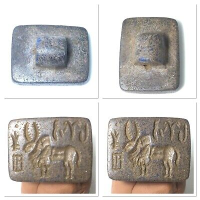 Very old Indus Valley stamp seal in lapis lazuli