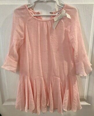 Decorated Originals For Kids Top Dress Tunic Size 5 T Girls Peach